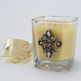 Cr�me Brul�e Glass Votive