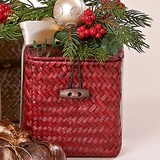 Cranberry Paperwhite Bulb Basket