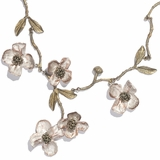 Dogwood Blossom Spray Necklace