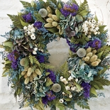 Dried Blue Meadow Wreath