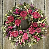 Dried Zinnia Wreath