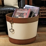 Equestrian-Style Canvas Basket
