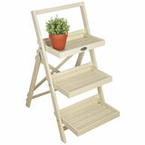 Folding White Plant Stand