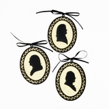 Founding Fathers Silhouette Ornaments