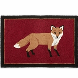 """Fox Hooked Rug <font color=""""a71932"""">(Sold Out)</font>"""