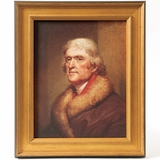 Thomas Jefferson Framed Portrait by Rembrandt Peale