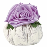 French Lavender Scented Sachet Pouf with Roses