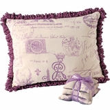 French Stamp Pillow