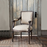 French-Style Upholstered Arm Chair