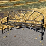 Fretwork Wrought Iron Bench