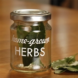 Homegrown Herbs Storage Jar