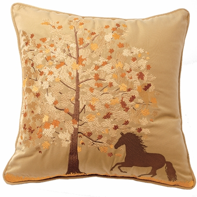 Horse and Tree Pillow