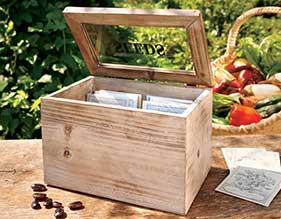 Seed Packet Box & Heirloom Seeds