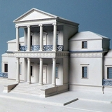 Jefferson's First Monticello Architectural Model in Plaster