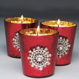 Jeweled Votive Holders