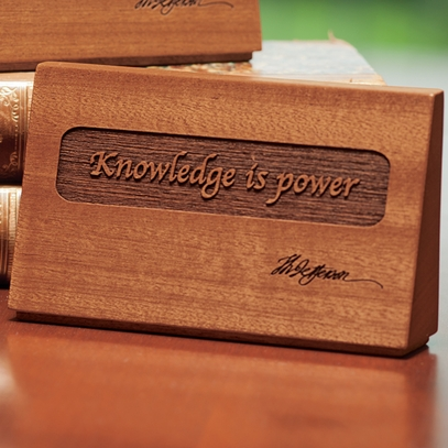 Knowledge is Power Quote Desk Plaque
