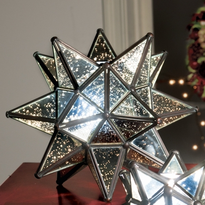 Large Silvered Glass Star