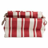Large Striped Canvas Carrying Tote