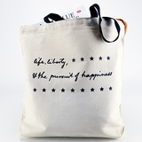 Life, Liberty, Happiness Canvas Tote