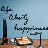 Life, Liberty, Happiness Wall Signs
