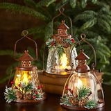 Mini Lighted Holiday Lanterns