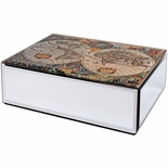 Mirrored World Map Box