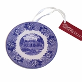 Monticello Blue Mini Plate Ornament