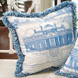 Monticello� Blueprint Pillow (West View)