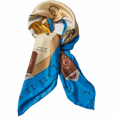 Monticello Clocks Silk Scarf