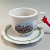 Monticello Cup & Saucer Ornament