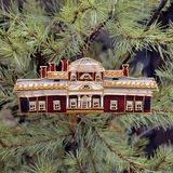 Monticello Embroidered Ornament