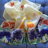 Monticello Fossil Flower Scarf