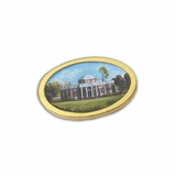 Monticello Hand Painted Miniature Portrait Pin