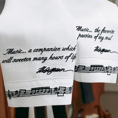 Monticello Music Towels