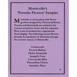 Monticello's Favorite Flowers Sampler