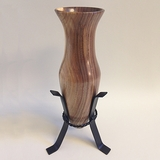 Monticello Walnut Vase and Stand 13-62