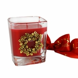 Noel Gold Wreath Glass Votive