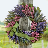 Patchwork Dried Wreath