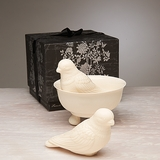 Perching Birds Soap with Dish
