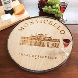 Personalized Barrel Head Lazy Susan