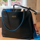 Personalized Leather Market Bag