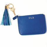 Personalized Leather Pouch and Key Ring Gift Set