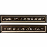 Personalized Longitude/Latitude Plaque