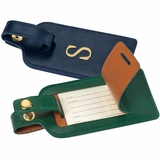 Personalized Leather Luggage Tag Set