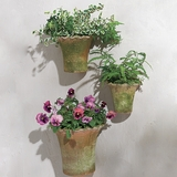 Piecrust-Edged Wall Planters