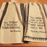 Quotation Dish Towels