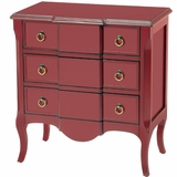 Red Blockfront Chest