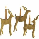 Reindeer Taper Holders