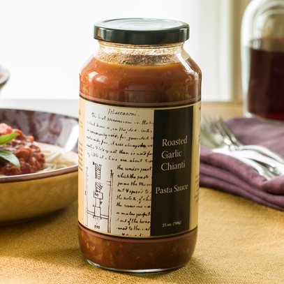 Roasted Garlic Chianti Pasta Sauce