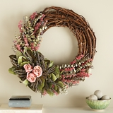 Rose and Twig Wreath